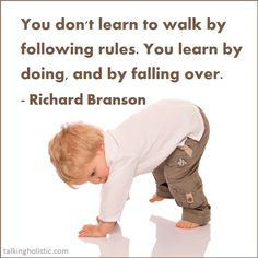 learning to walk Branson